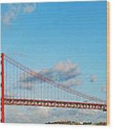 April 25th Bridge In Lisbon Wood Print