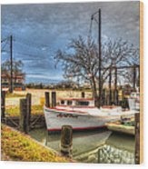April Dawn Poquoson Virginia Wood Print