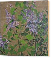 April Lilacs Wood Print