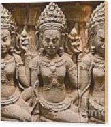 Apsara - Angkor Wat Wood Print