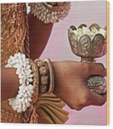 Apsara Dancer 01 Wood Print