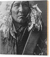 Apsaroke Indian Man Circa 1908 Wood Print