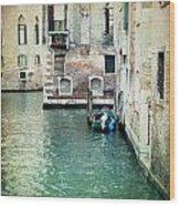 Aqua - Venice Wood Print