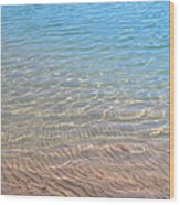 Aqua Art Wood Print