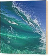 Aqua Blade Wood Print by Sean Davey