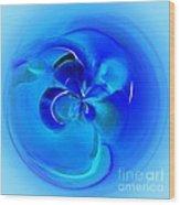 Aqua Blue Orb Wood Print