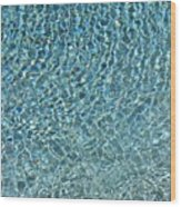 Aqua Diamonds Wood Print
