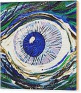 Aqua Eye Wood Print
