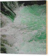 Aqua Falls Wood Print