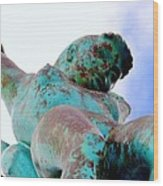 Aqua Girl Wood Print