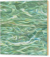 Aqua Green Water Art 2 Wood Print