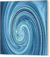 Aqua Lagoon Abstract Wood Print