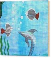 Aqua Life Wood Print
