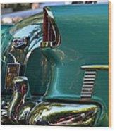 Aqua Marine Blue Chevy Wood Print