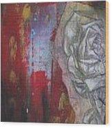 Aqua Red Rose No.3 Wood Print