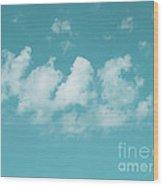 Aqua Sky Meditation Wood Print