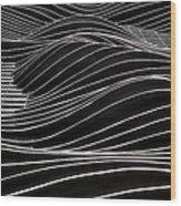 Aqua Waves Wood Print