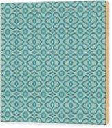 Aqua X Arrangement Wood Print