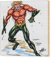 Aquaman Wood Print
