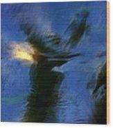 Aquarelle  Blue #1 Wood Print
