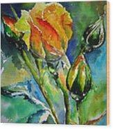 Aquarelle Wood Print by Elise Palmigiani