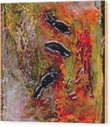 Aquarium Encaustic Wood Print