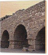 Aqueduct At Caesarea   Wood Print