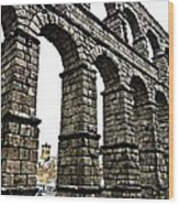 Aqueduct Of Segovia - Spain Wood Print by Juergen Weiss