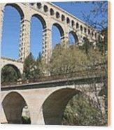 Aqueduct Roquefavour Wood Print