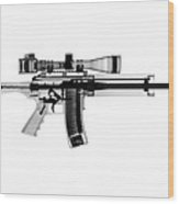 Ar 15 Pro Ordnance Carbon 15 X-ray Photograph Wood Print