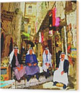 Arab Merchants Of Jerusleum Wood Print
