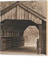 Arabia Mountain Covered Bridge Wood Print