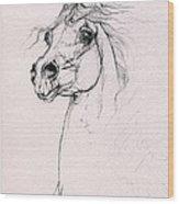 Arabian Horse Portrait 2014 02 25 Wood Print