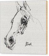 Arabian Horse Sketch 2014 05 28c Wood Print