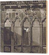 Arabian Windows, In Campo Santa Maria Wood Print