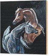 Arabians Wood Print