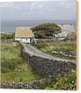 Aran Cottage Wood Print