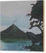 Aranal Volcano Costa Rica Wood Print