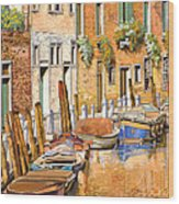 Arancio Sul Canale Wood Print