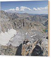 Arapaho Glacier Wood Print by Aaron Spong