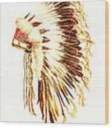 Arapaho War Bonnet Wood Print