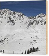 Arapahoe Basin Ski Resort - Colorado          Wood Print