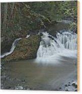 Arbirlot Waterfall Arbroath Wood Print