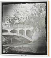 Arboretum Bridge Wood Print by Justine Connolly