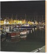 Arbroath Harbour Wood Print