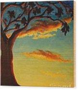 Arbutus Sunrise Wood Print
