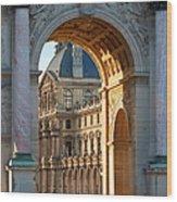 Arc De Triomphe Du Carrousel Wood Print