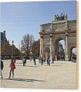 Arc De Triomphe Du Carrousel In Paris France  Wood Print