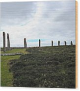 Arc Of Stones At The Ring Of Brodgar Wood Print