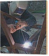 Arc Welder Wood Print